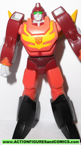 Transformers pvc RODIMUS PRIME HOT ROD with visor heroes of cybertron scf