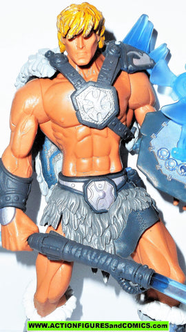 masters of the universe HE-MAN ICE ARMOR he-man 2002 complete motu action figures
