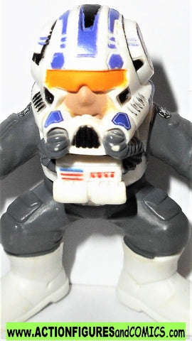STAR WARS galactic heroes ARC 170 PILOT complete pvc action figure