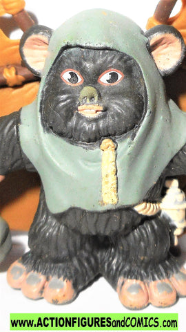 STAR WARS galactic heroes EWOK warrior GLIDER attack complete hasbro