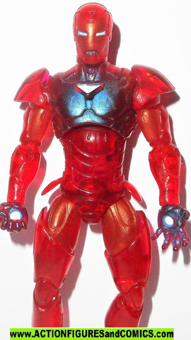 marvel universe Holographic IRON MAN RED EXTREMIS armor light up base series