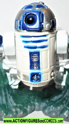 STAR WARS galactic heroes R2-D2 w thrusters complete hasbro