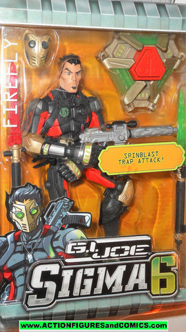 Gi joe FIREFLY sigma 6 six 8 inch action figure 2006 gijoe hasbro moc mib