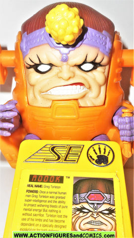 Iron man MODOK 1995 marvel universe action hour toy biz figures w badge