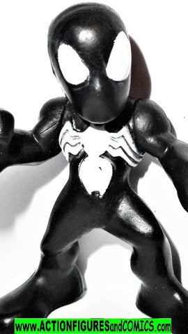 Marvel Super Hero Squad SPIDER-MAN black suit complete pvc
