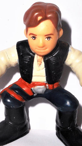 Copy of star wars galactic heroes HAN SOLO orange belt New Hope hasbro pvc