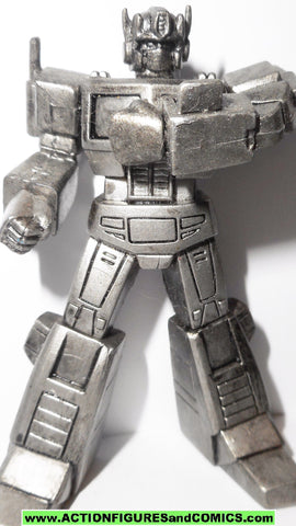 transformers pvc OPTIMUS PRIME communicator PEWTER heroes of cybertron