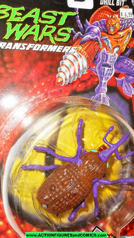 Transformers Beast Wars DRILL BIT insecticon insect bug 1996 OPENED MOC