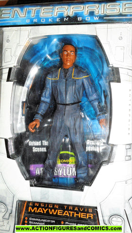 Star Trek Enterprise TRAVIS MAYWEATHER 2002 art asylum action figures moc mib