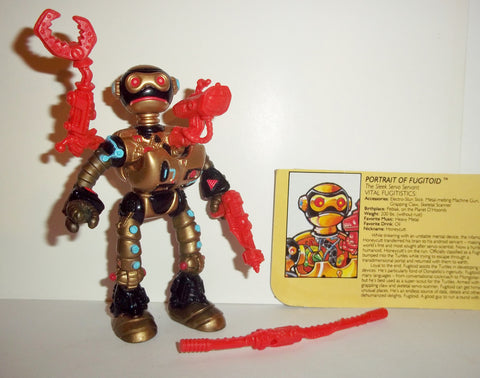teenage mutant ninja turtles FUGITOID 1990 vintage complete tmnt