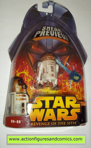 star wars action figures R4-G9 GOLD DROID 2005 revenge of the sith hasbro toys moc mip mib