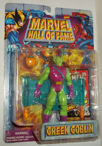 MARVEL hall of fame GREEN GOBLIN new moc 1997 spider-man universe toy biz