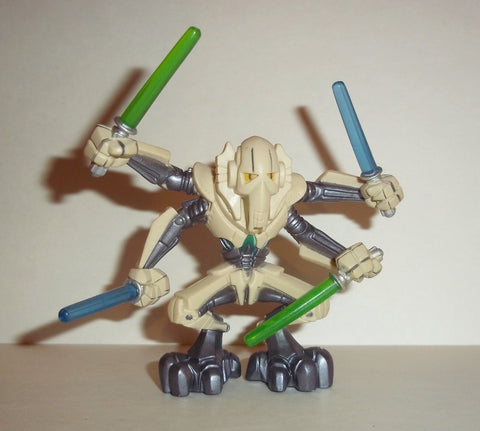 STAR WARS galactic heroes GENERAL GRIEVOUS 4 light sabers complete hasbro