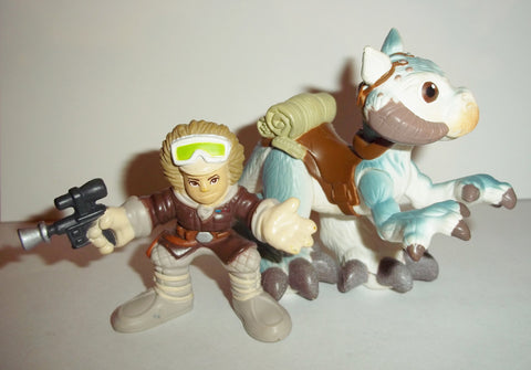 STAR WARS galactic heroes TAUN TAUN and HOTH HAN SOLO complete pvc hasbro action figures