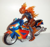 marvel legends HUMAN TORCH with MOTORCYCLE complete fantastic four