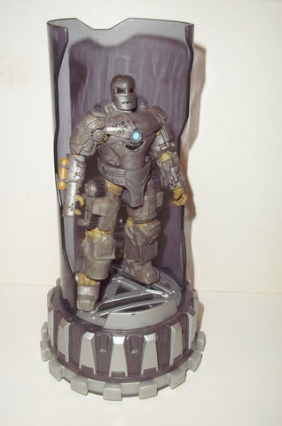 marvel universe IRON MAN mark I hall of armor light up base complete hasbro