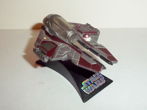star wars titanium JEDI STARFIGHTER obi wan kenobi marroon red complete