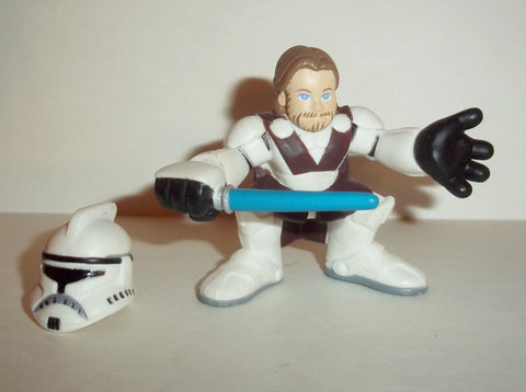 STAR WARS galactic heroes OBI WAN KENOBI general CLONE WARS removable helmet complete