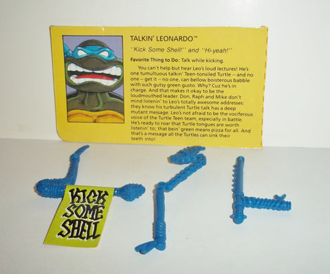 teenage mutant ninja turtles LEONARDO Talkin leo 1991 complete weapon set tmnt