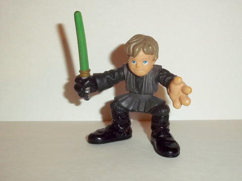 STAR WARS galactic heroes LUKE SKYWALKER JEDI KNIGHT grey tunic complete hasbro