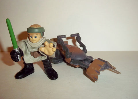 STAR WARS galactic heroes LUKE SKYWALKER endor SPEEDER BIKE complete