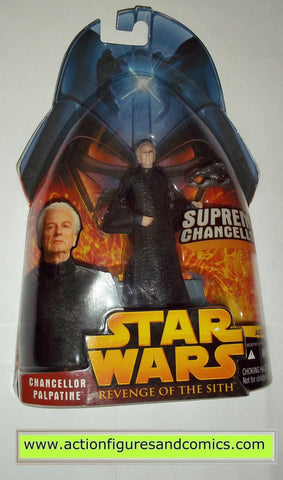 star wars action figures CHANCELLOR PALPATINE 2005 revenge of the sith hasbro toys moc mip mib