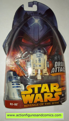 star wars action figures R2-D2 droid attack 7 2005 revenge of the sith hasbro toys moc mip mib