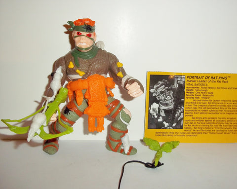 teenage mutant ninja turtles RAT KING 1989 B&W card  vintage complete tmnt