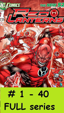 DC comics 2011 new 52 RED LANTERNS # 1 - 40 Complete series green full run lot set