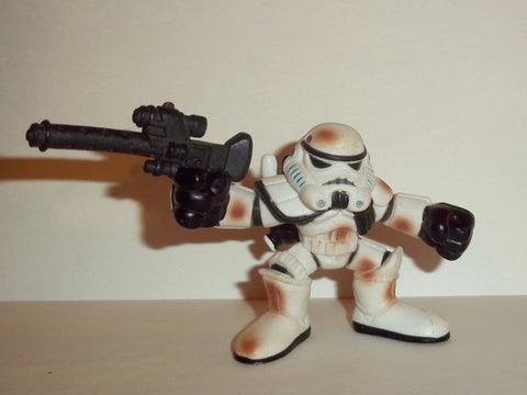 STAR WARS galactic heroes SANDTROOPER white shoulder pad muddy complete