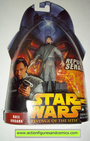 star wars action figures BAIL ORGANA senator 15 2005 revenge of the sith hasbro toys moc mip mib
