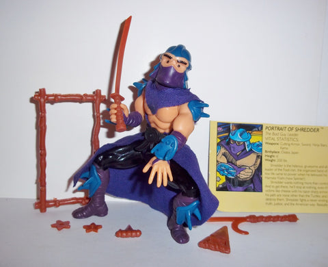 teenage mutant ninja turtles SHREDDER 1988 vintage complete tmnt