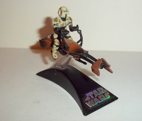 star wars titanium SPEEDER BIKE KASHYYYK with biker scout complete