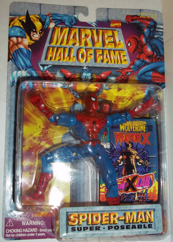 MARVEL hall of fame 1997 SUPER POSEABLE SPIDER-MAN new moc universe toy biz