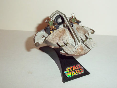 star wars titanium SWAMP SPEEDER green muddy variant complete