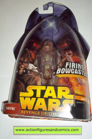 star wars action figures TARFFUL wookiee 25 2005 revenge of the sith hasbro toys moc mip mib