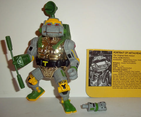 teenage mutant ninja turtles METALHEAD 1990 vintage 100% complete tmnt