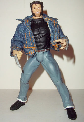 marvel legends WOLVERINE denim jean jacket x-men movie logan blue fig