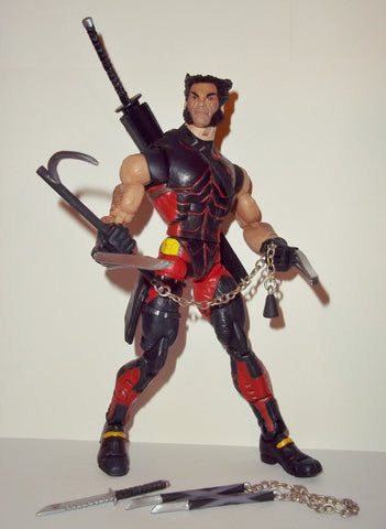 marvel legends WOLVERINE NINJA STRIKE x-men classics toy biz complete