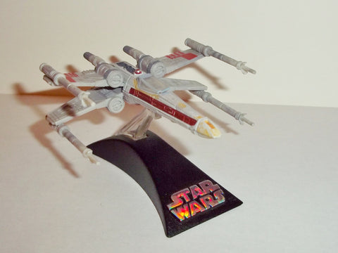 star wars titanium X-WING STARFIGHTER red four 4 john branons complete