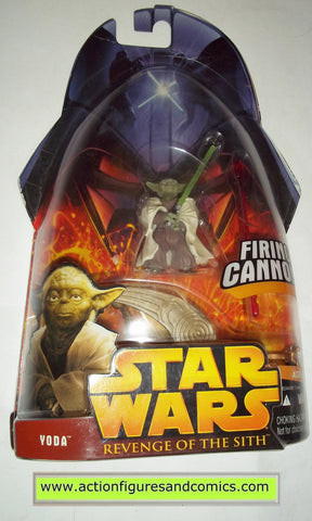 Star Wars Action Figures Yoda Firing Cannon 3 2005 Revenge Of The Sith Actionfiguresandcomics