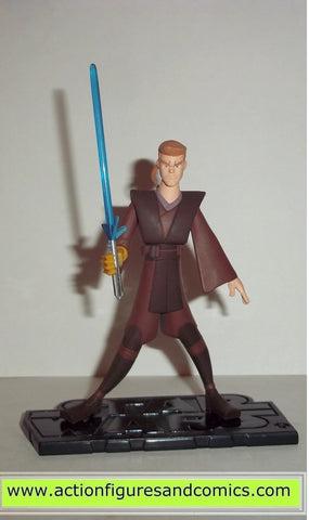 star wars action figures ANAKIN SKYWALKER animated clone wars 2004 hasbro toys