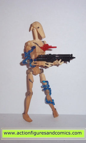star wars action figures BATTLE DROID arena battle white 2002 hasbro toys attack of the clones
