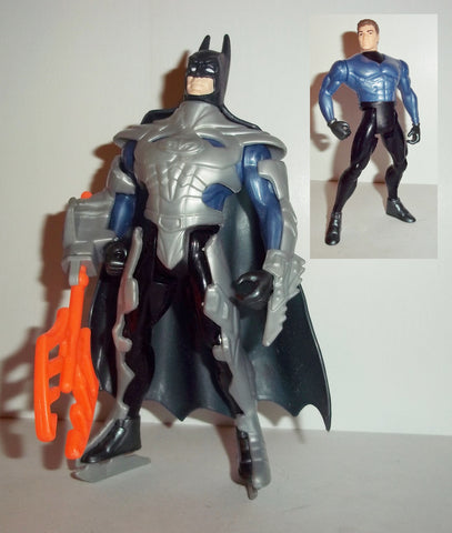 batman & robin BATTLE GEAR BRUCE WAYNE 100% complete 1997 movie kenner