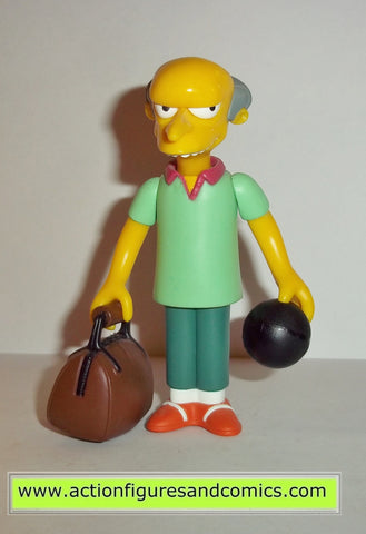 simpsons MR BURNS pin pal bowling team playmates toys complete action figures