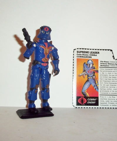 gi joe COBRA COMMANDER 1997 v8 15th anniversary TRU exclusive series Complete
