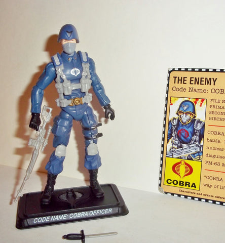 gi joe COBRA OFFICER 2007 v4 25th anniversary NO BP HOLE VARIANT