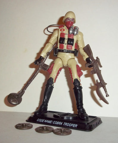 gi joe COBRA TROOPER 2008 v9 25th anniversary desert soldier explosives specialist