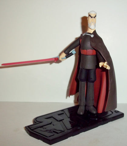 star wars action figures COUNT DOOKU animated 2003 complete