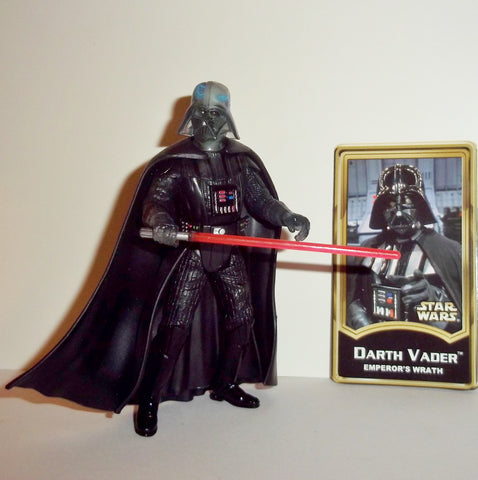 star wars action figures DARTH VADER emperor's wrath power of the jedi